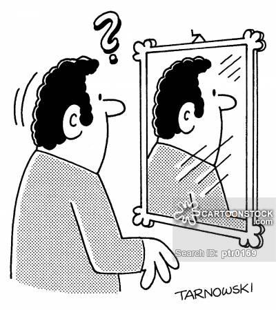 Backwards mirror.